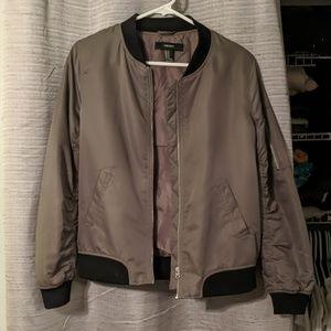 Grey/olive bomber jacket